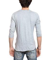 Balmain | Gray Preppy Printed Jersey 3/4 Sleeve T-shirt for Men | Lyst