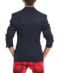 Balmain - Blue Cool Wool Double Breasted Jacket for Men - Lyst