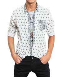 Balmain | White Paisley Print Shirt for Men | Lyst