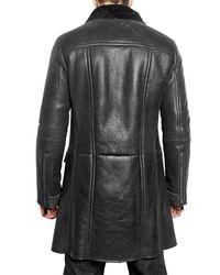 Pringle of Scotland | Black Shearling Leather Jacket for Men | Lyst
