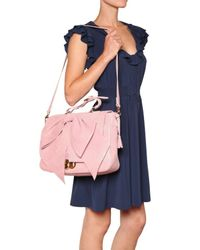 RED Valentino - Pink Laminated Leather Bow Shoulder Bag - Lyst