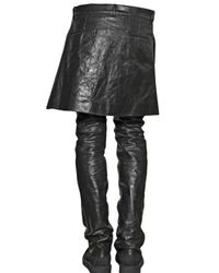 Rick Owens | Black Boxer Calf Skirted Trousers for Men | Lyst