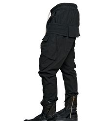 Rick Owens | Black Cotton Poplin Trousers for Men | Lyst