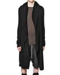 Rick Owens - Black Merino Wool Knit Hooded Sweater for Men - Lyst
