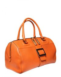 Roger Vivier | Orange New Bauletto Metro Leather Top Handle | Lyst
