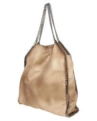 Stella McCartney | Natural Medium Falabella Washed Linen Bag | Lyst