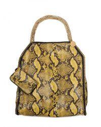 Stella McCartney | Yellow Falabella Large Eco Python Shoulder Bag | Lyst