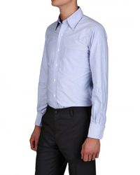 Thom Browne - Blue Oxford Cotton Shirt for Men - Lyst