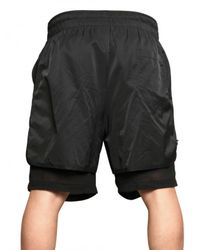 Tom Rebl | Black Double Layered Cotton Nylon Shorts for Men | Lyst