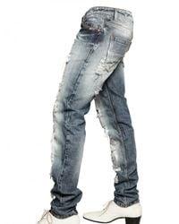 Tom Rebl - Blue Destroyed Denim Jeans Jeans for Men - Lyst