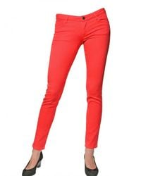 Vanessa Bruno Athé - Pink Super Skinny Denim Stretch Jeans - Lyst
