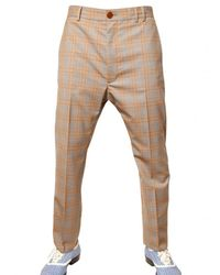Vivienne Westwood | Beige 19cm Checked Wool Trousers for Men | Lyst