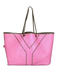 Saint Laurent - Brown Neon Double Reversible Large Tote - Lyst