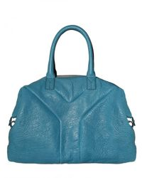 Saint Laurent | Blue Easy Top Medium Leather Top Handle | Lyst