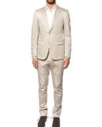 Z Zegna | Natural Compact Silk Cotton Satin Suit for Men | Lyst