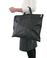 Ai_ - Black Hide Leather Satchel - Lyst