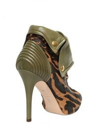 Alexander McQueen - Green 110mm Pony & Leather Faithful Boots - Lyst