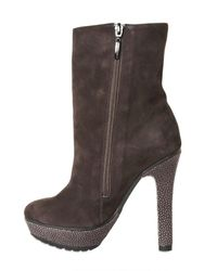 Alexandre Birman - Brown 130mm Suede and Stingray Low Boots - Lyst