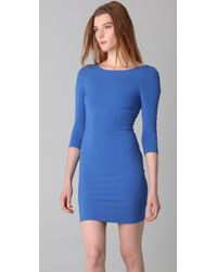 Alice + Olivia | Blue Isaac 3/4 Sleeve Fitted Dress | Lyst