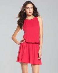 Alice + Olivia | Pink Alaina Dropped Waist Dress | Lyst
