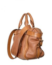 Burberry | Brown Banford Leather Top Handle | Lyst