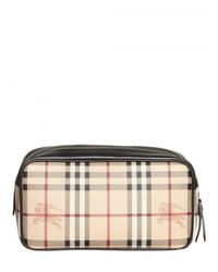 Burberry - Natural Coalburn Classic Check Toiletry Bags for Men - Lyst