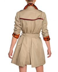 Burberry Brit   Natural Bromsteadspsc Cotton Gabardine Trench Coat   Lyst