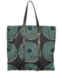 Burberry Prorsum - Blue Optical Printed Nylon and Calfskin Bag for Men - Lyst