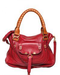 Chloé - Red Marcie Medium Top Handle - Lyst