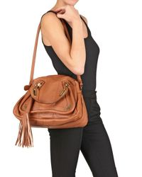 Chloé - Brown Paraty Calfskin with Nappa Top Handle - Lyst