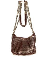 De Couture - Red Gold Chain Reversible Shoulder Bag - Lyst
