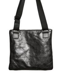 Dolce & Gabbana - Black Bufalo Flat Shoulder Bag for Men - Lyst