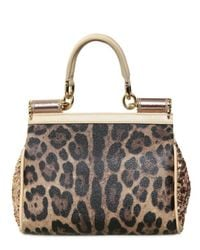 Dolce & Gabbana - Natural Mini Miss Sicily Top Handle - Lyst
