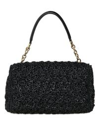 Dolce & Gabbana - Black Miss Charles Jewelled Raffia Top Handle - Lyst