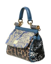 Dolce & Gabbana - Blue Mini Miss Sicily Top Handle - Lyst