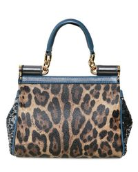 Dolce & Gabbana | Blue Mini Miss Sicily Top Handle | Lyst
