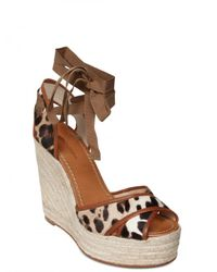 Dolce & Gabbana - Multicolor 130mm Ponyskin and Leather Wedges - Lyst