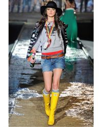DSquared² - Yellow 120mm Wellington Leather Boots - Lyst
