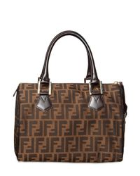 Fendi | Brown Zucca Jacquard Chef Boston Top Handle | Lyst