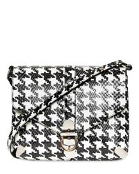 Ferragamo | Black Houndstooth Print Python Shoulder Bag | Lyst