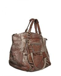 Giorgio Brato - Brown Vegetable Treated Vintage Weekend Bag for Men - Lyst