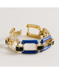 J.Crew | Multicolor Enamel and Pavé-link Bracelet | Lyst