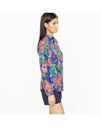 J.Crew - Multicolor Perfect Shirt in Ashbury Floral - Lyst