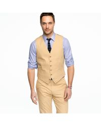 J.Crew | Natural Suit Vest in Italian Chino for Men | Lyst