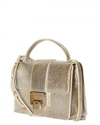 Jimmy Choo - Metallic Rebel Glitter Leather Shoulder Bag - Lyst