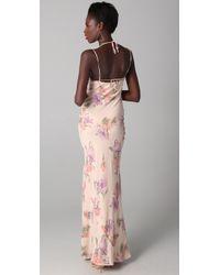 JOSEPH - Multicolor Blush Hand-painted Floral Dress - Lyst