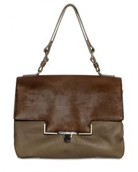 Lanvin | Brown Miss Sartorial Calfskin Shoulder Bag | Lyst