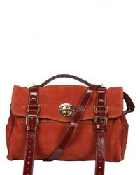 Mulberry | Brown Fox Lock Maxi Grain Nubuck Satchel | Lyst
