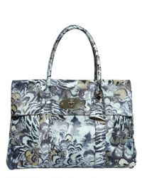 Mulberry - Gray Bayswater Feather Print Shoulder Bag - Lyst