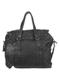 Officine Creative | Black Textured Calfskin Weekender Bag for Men | Lyst